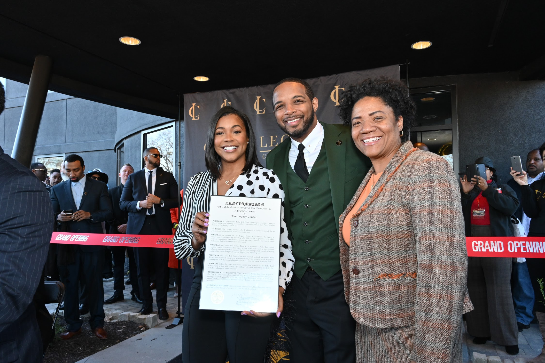Founders Jay and Ernestine Morrison and the Tulsa Real Estate Fund Hosts Historic 5-Day Grand Opening of The Legacy Center, an Economic Empowerment Hub with Mayor of East Point, 1,000+ Community Supporters, Celebrity Friends, Investment Partners and More